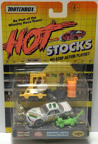 (TAS034254) - Matchbox Hot Stocks Pit-Stop Playset - Goodyear #11, , Trucks & Cars, Matchbox, The Angry Spider Vintage Toys & Collectibles Store  - 1