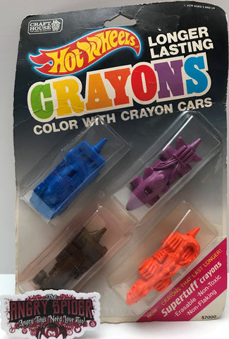 TAS037665 - 1989 Hot Wheels Longer Lasting Crayons Color Cars