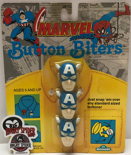 TAS037668 - 1991 Brookside Button Biters Marvel Super Heroes Captain America