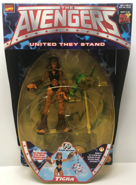 TAS040836 - 1999 Toy Biz Marvel The Avengers United They Stand - Tigra