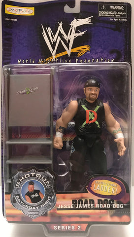 TAS015018 - 1998 Jakks WWF WWE Shotgun Road Dog Jesse James