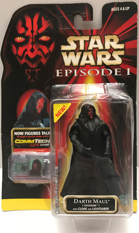 TAS015029 - 1999 Hasbro Star Wars Action Figure Comm Tech - Darth Maul