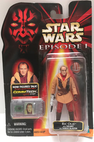 TAS015030 - 1999 Hasbro Star Wars Comm Tech - Ric Olie Action Figure