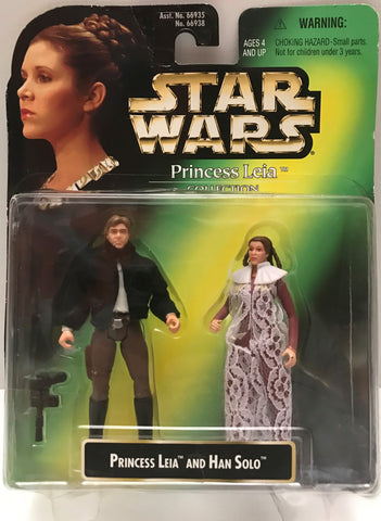 TAS015032 - 1997 Kenner Hasbro Star Wars - Princess Leia And Han Solo
