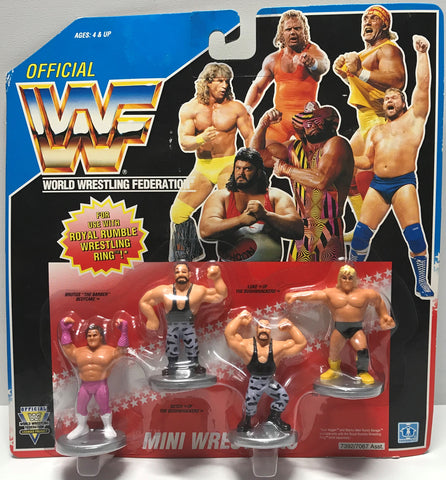TAS002004 - 1991 Hasbro WWF WWE Royal Rumble Mini Figures