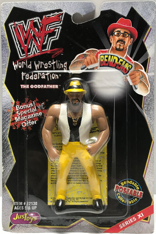 TAS002029 - 1999 Just Toys WWE WWF Bend-Ems - The GodFather