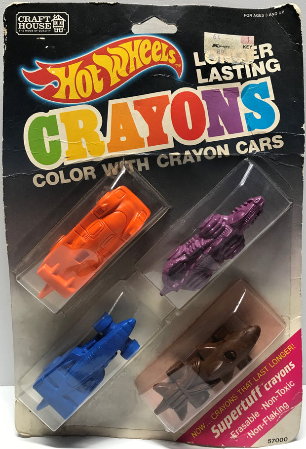 TAS018017 - 1989 Craft House Hot Wheels Crayons Cars