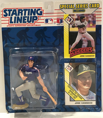TAS039989 - 1993 Kenner Starting Lineup MLB Texas Rangers - Jose Canseco