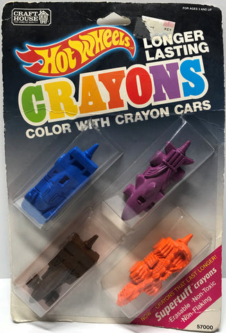 TAS024014 - 1989 Mattel Hot Wheels Crayons - Crayon Cars