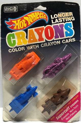 TAS024015 - 1989 Mattel Hot Wheels Crayons - Crayon Cars