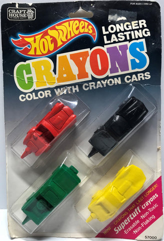 TAS024016 - 1989 Mattel Hot Wheels Crayons - Crayon Cars