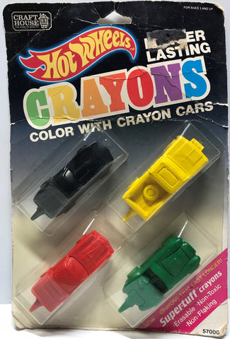 TAS024017 - 1989 Mattel Hot Wheels Crayons - Crayon Cars