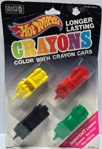 TAS024018 - 1989 Mattel Hot Wheels Crayons - Crayon Cars