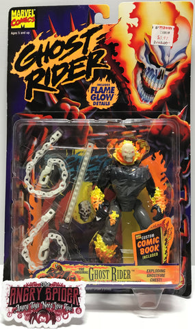 TAS026006- 1996 Toy Biz Ghost Rider Flame Glow Action Figure