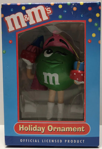 TAS027008 - Kurt S. Adler Santa's World M&M Christmas Ornament Green