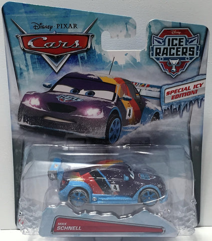 (TAS034450) - 2014 Mattel Disney Pixar Cars Ice Racers - Max Schnell - The Angry Spider Vintage Toys & Collectibles Store  - 1