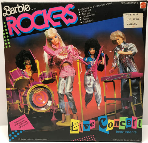 TAS028001 - 1986 Mattel Barbie And The Rockers Live Concert Instruments