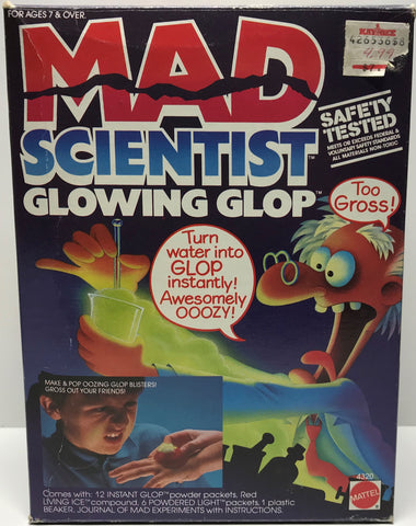 "TAS028005 - 1986 Mattel MAD Scientist Glowing Glop Kit ""Too Gross!"""