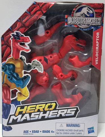 (TAS034459) - 2015 Hasbro Hero Mashers Jurassic World Figure - Red Velociraptor, , Action Figure, Hasbro, The Angry Spider Vintage Toys & Collectibles Store  - 1