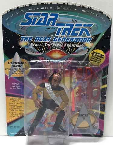 (TAS034306) - 1992 Playmates Star Trek The Next Generation - Lieutenant Worf, , Action Figure, Star Trek, The Angry Spider Vintage Toys & Collectibles Store  - 1