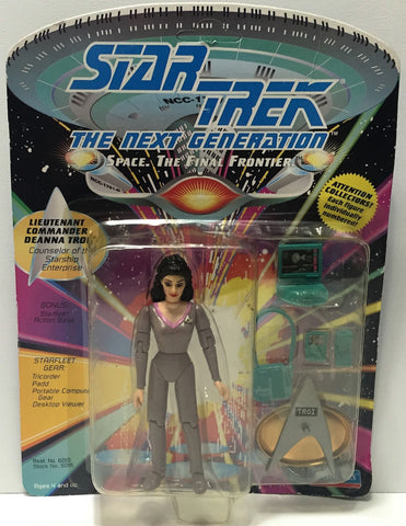 (TAS034307) - 1992 Playmates Star Trek The Next Generation - Deanna Troi, , Action Figure, Star Trek, The Angry Spider Vintage Toys & Collectibles Store  - 1