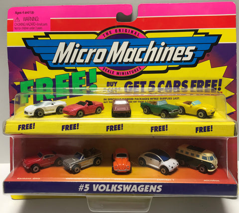 TAS028016 - 1998 Galoob Micro Machines Die-Cast Set #5 Volkswagens