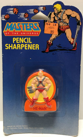 TAS028017 - 1984 Mattel Masters Of The Universe He-Man Pencil Sharpener