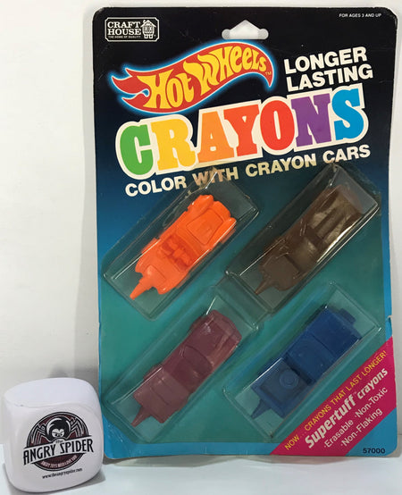 TAS040923 - 1989 Craft House Mattel Hot Wheels Color With Crayon Cars
