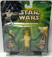 (TAS034325) - 2001 Hasbro Star Wars Power of the Jedi - Amanaman Salacious Crumb - The Angry Spider Vintage Toys & Collectibles Store  - 1