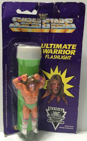 (TAS034321) - 1991 Titan Sports WWF Superstars Flashlight - Ultimate Warrior, , Action Figure, Wrestling, The Angry Spider Vintage Toys & Collectibles Store  - 1
