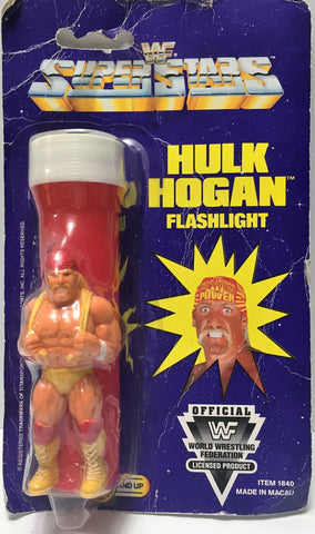 (TAS034319) - 1991 Titan Sports WWF Superstars Flashlight - Hulk Hogan, , Action Figure, Wrestling, The Angry Spider Vintage Toys & Collectibles Store  - 1