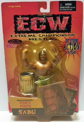 (TAS034327) - 1999 Toymakers ECW Extreme Championship Wrestling - Sabu, , Action Figure, Wrestling, The Angry Spider Vintage Toys & Collectibles Store  - 1