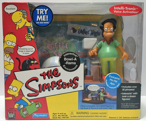 (TAS034338) - 2001 The Simpsons Interactive Bowl-A-Rama - Exclusive Pin Pal Apu, , Pins, The Simpsons, The Angry Spider Vintage Toys & Collectibles Store  - 1