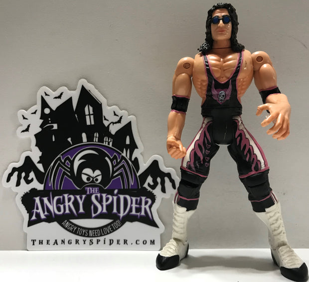 Tas003797 Jakks Wwf Wwe Wrestling Figure Bret The Hitman Hart The Angry Spider Vintage Toys Collectibles Store