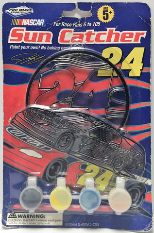 (TAS034350) - 2008 HGL NASCAR Collectible Racing Sun Catcher - Jeff Gordon #24, , Trucks & Cars, NASCAR, The Angry Spider Vintage Toys & Collectibles Store  - 1