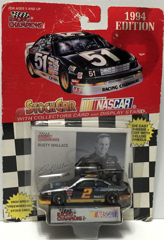 (TAS034258) - 1994 Racing Champions NASCAR Die-Cast Stock Car - Rusty Wallace, , Trucks & Cars, NASCAR, The Angry Spider Vintage Toys & Collectibles Store  - 1