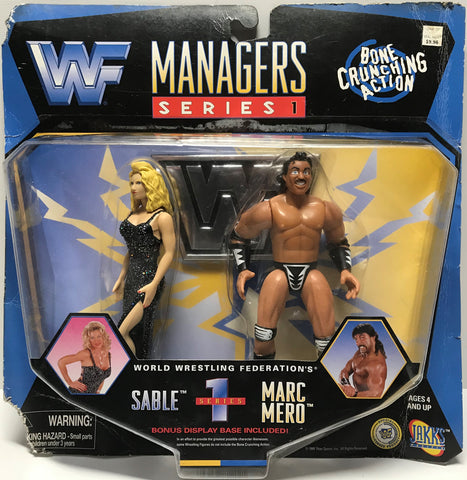 TAS037725 - 1997 Jakks WWF WWE Managers Series I - Sable & Marc Mero