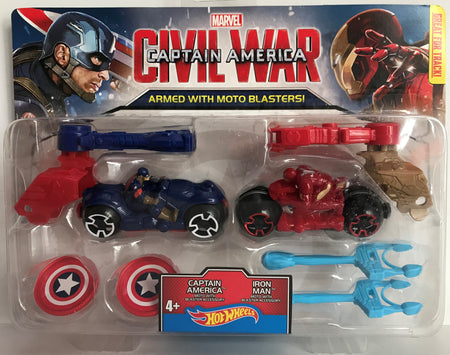 TAS037980 - 2015 Mattel Marvel Captain America Iron Man Hot Wheels