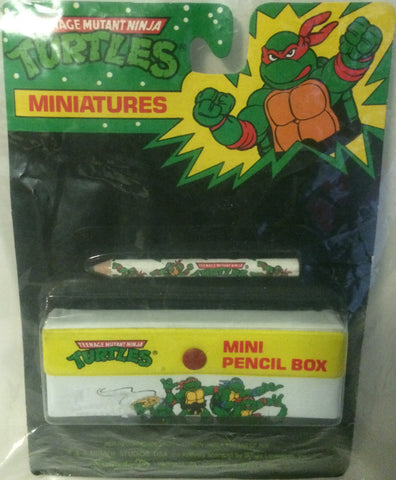 (TAS000031) - Mirage Studio Teenage Mutant Ninja Turtles Mini Pencil Box, , Pencil, TMNT, The Angry Spider Vintage Toys & Collectibles Store