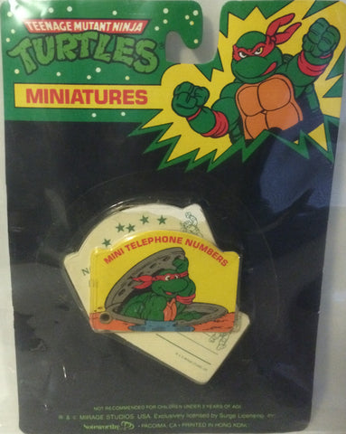 (TAS000040) - Mirage Studio Teenage Mutant Ninja Turtles Mini Telephone Numbers, , Other, TMNT, The Angry Spider Vintage Toys & Collectibles Store
