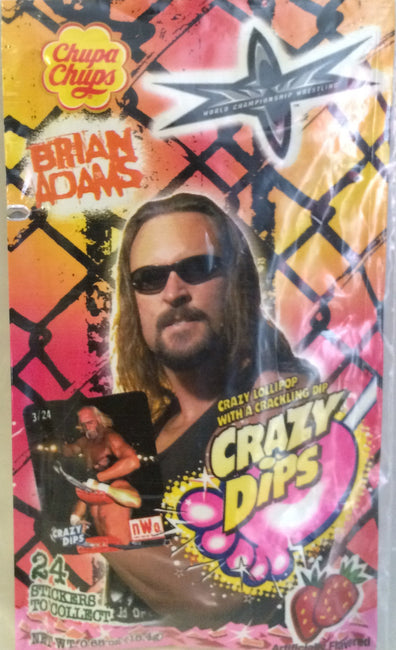 (TAS000057) - Chupa Chups WCW WWF Crazy Dips - Brian Adams, , Other, Wrestling, The Angry Spider Vintage Toys & Collectibles Store