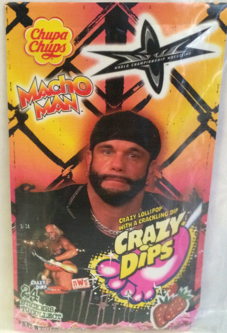 (TAS000068) - Chupa Chups WCW WWF Crazy Dips - Macho Man, , Other, Wrestling, The Angry Spider Vintage Toys & Collectibles Store