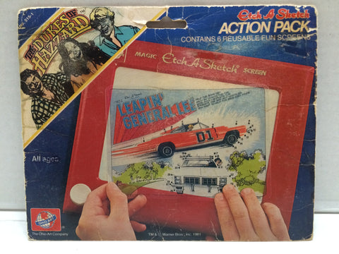 (TAS000073) - 1991 Etch A Sketch Action Pack - The Dukes of Hazzard, , The Dukes of Hazzard, n/a, The Angry Spider Vintage Toys & Collectibles Store  - 1