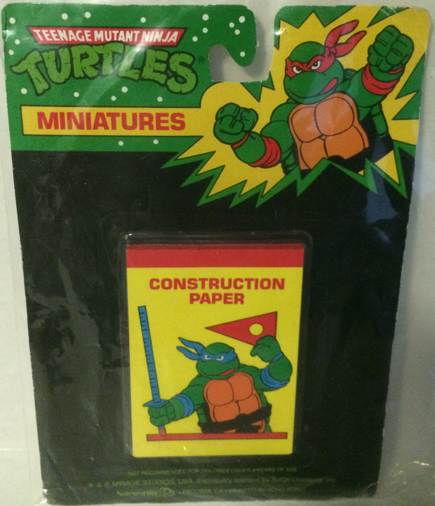 (TAS000086) - Mirage Studio Teenage Mutant Ninja Turtles Mini Construction Paper, , Other, TMNT, The Angry Spider Vintage Toys & Collectibles Store