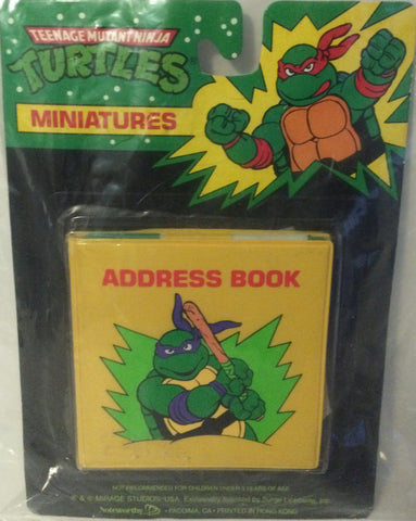 (TAS000087) - Mirage Studio Teenage Mutant Ninja Turtles Miniatures Address Book, , Other, TMNT, The Angry Spider Vintage Toys & Collectibles Store
