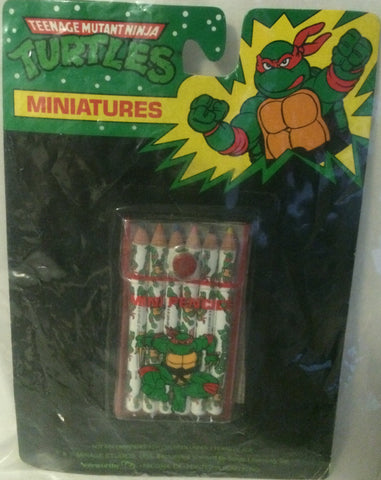(TAS000088) - Mirage Studio Teenage Mutant Ninja Turtles Miniatures Pencils, , Pencil, TMNT, The Angry Spider Vintage Toys & Collectibles Store