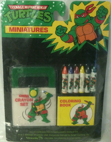 (TAS000090) - Mirage Studio Teenage Mutant Ninja Turtles Miniatures Mini Crayons, , Crayons, TMNT, The Angry Spider Vintage Toys & Collectibles Store