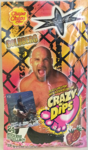 (TAS000100) - Chupa Chups WCW WWF Crazy Dips - Goldberg, , Other, Wrestling, The Angry Spider Vintage Toys & Collectibles Store