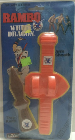 (TAS000110) - 1986 LarGo Toys Rambo White Dragon Arm Sheath, , Action Figure, Rambo, The Angry Spider Vintage Toys & Collectibles Store