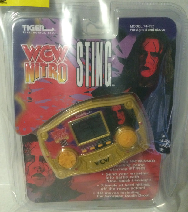 (TAS000133) - Tiger Electronics WCW Nitro Electronic Handheld Game - Sting, , Games, Wrestling, The Angry Spider Vintage Toys & Collectibles Store